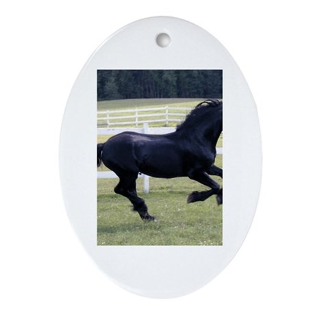 Baron Galloping Oval Ornament