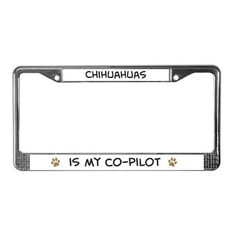 Co-pilot: Chihuahuas License Plate Frame