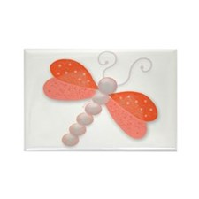Dragonfly pearls jewel, illus Rectangle Magnet