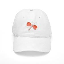 Dragonfly pearls jewel, illus Baseball Cap