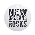 New Orleans Rocks Ornament (Round)