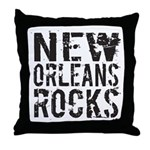 New Orleans Rocks Throw Pillow