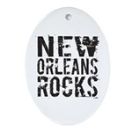 New Orleans Rocks Ornament (Oval)