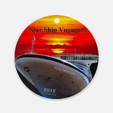 Star Ship Voyagers Cruise - Ornament (Round)