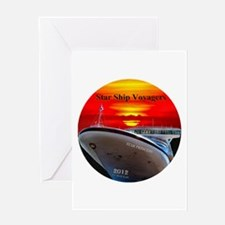 Star Ship Voyagers Cruise - Greeting Card