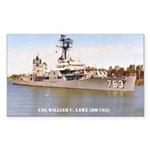 USS WILLIAM C. LAWE Sticker (Rectangle)
