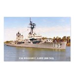 USS WILLIAM C. LAWE Postcards (Package of 8)