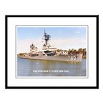 USS WILLIAM C. LAWE Large Framed Print