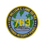 "USS WILLIAM C. LAWE 3.5"" Button"