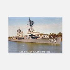 USS WILLIAM C. LAWE Rectangle Magnet