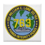 USS WILLIAM C. LAWE Tile Coaster
