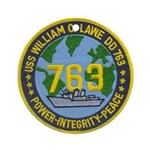 USS WILLIAM C. LAWE Ornament (Round)