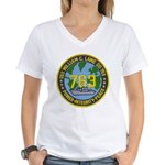 USS WILLIAM C. LAWE Women's V-Neck T-Shirt