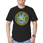 USS WILLIAM C. LAWE Men's Fitted T-Shirt (dark)