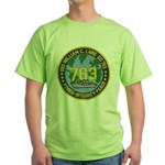 USS WILLIAM C. LAWE Green T-Shirt