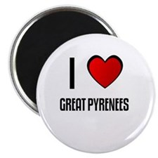 "I LOVE GREAT PYRENEES 2.25"" Magnet (10 pack)"