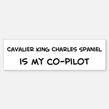 Cavalier King Charles Spaniel Bumper Car Car Sticker