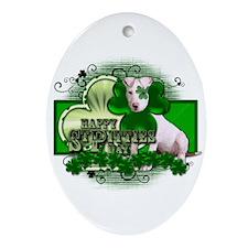 Happy St Pitties Day - Pitbul Ornament (Oval)
