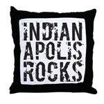 Indianapolis Rocks Throw Pillow