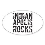 Indianapolis Rocks Sticker (Oval)