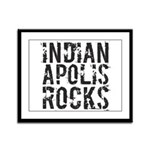 Indianapolis Rocks Framed Panel Print