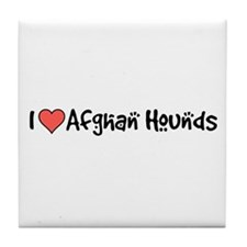 I heart Afghan Hounds Tile Coaster