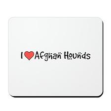 I heart Afghan Hounds Mousepad