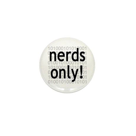 Nerds Only! Mini Button (100 pack)