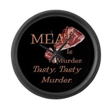 Meat Is Murder Large Wall Clock