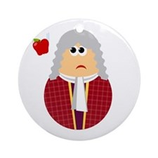 Fun Isaac Newton Scientist Ornament (Round)