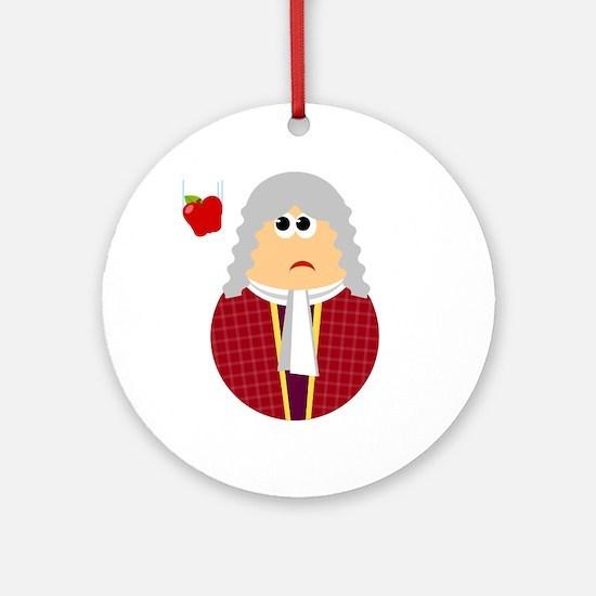 Fun Isaac Newton Scientist Ornament (Round)