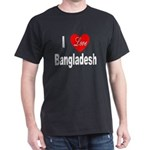 I Love Bangladesh (Front) Black T-Shirt