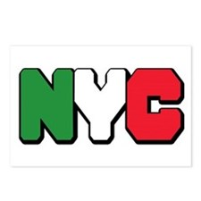 New york Italian Postcards (Package of 8)