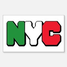 New york Italian Rectangle Decal