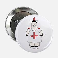 """Nurse Moo 2.25"""" Button"""