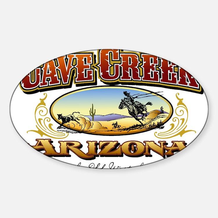 Cave Creek Roper Sticker (Oval)