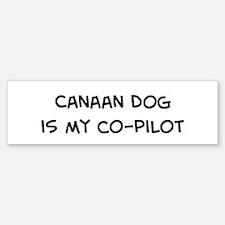 Co-pilot: Canaan Dog Bumper Bumper Bumper Sticker