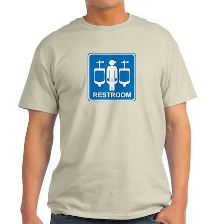 Restroom Sign 1 Light T-Shirt