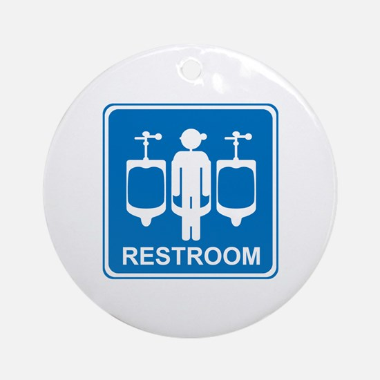 Restroom Sign 1 Ornament (Round)