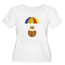 Cute Cartoon Parachuter T-Shirt