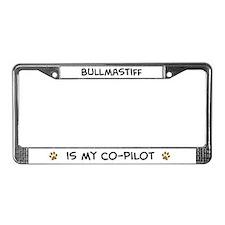 Co-pilot: Bullmastiff License Plate Frame