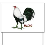Macho Duckwing Gamecock Yard Sign