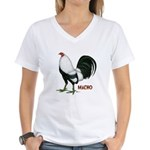 Macho Duckwing Gamecock Women's V-Neck T-Shirt