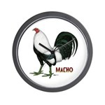 Macho Duckwing Gamecock Wall Clock