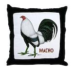 Macho Duckwing Gamecock Throw Pillow