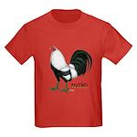 Macho Duckwing Gamecock Kids Dark T-Shirt