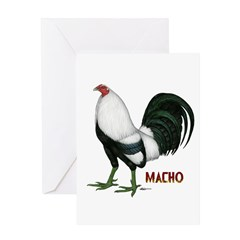 Macho Duckwing Gamecock Greeting Card