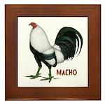 Macho Duckwing Gamecock Framed Tile