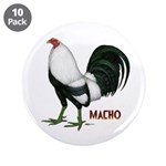 """Macho Duckwing Gamecock 3.5"""" Button (10 pack)"""