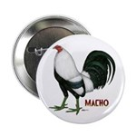 """Macho Duckwing Gamecock 2.25"""" Button (100 pac"""